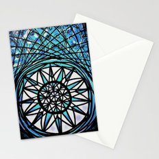 Blue Flame Mandala Stationery Cards