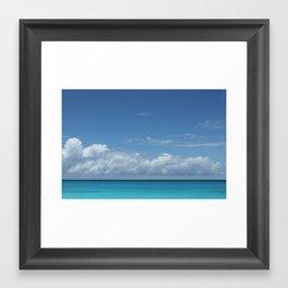 Blue line Framed Art Print
