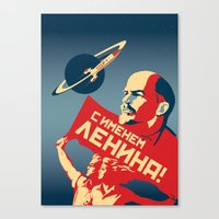 soviet Canvas Prints featuring Soviet poster by Cardula