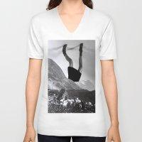velvet underground V-neck T-shirts featuring Underground by Kristina Haritonova