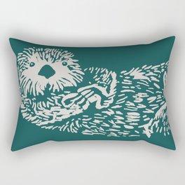 The handsome sea otter Rectangular Pillow