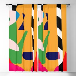Bold and vibrant abstract shapes Blackout Curtain