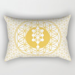 The Seed, Flower and Tree of Life sacred geometry Rectangular Pillow
