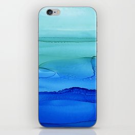 Alcohol Ink Seascape iPhone Skin