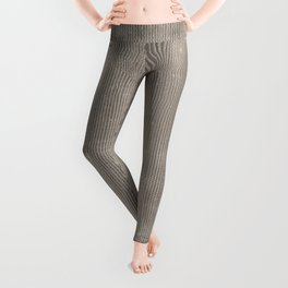 Vintage chic abstract gray geometrical stripes Leggings