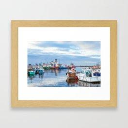 Girvan Harbour Framed Art Print
