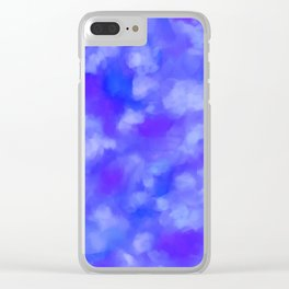 Abstract Clouds - Rich Royal Blue Clear iPhone Case