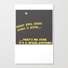 When you wish upon a Star/Space Station Canvas Print