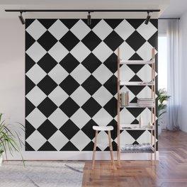 Diamond Black And White Wall Mural