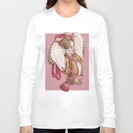 Slavic Beauty in Hucul clothing Long Sleeve T-shirt