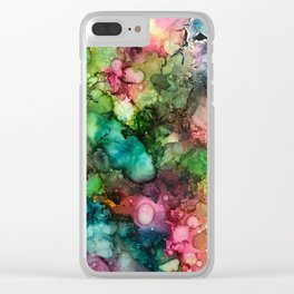 Abstract Fluid Ink Clear iPhone Case