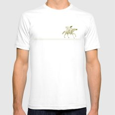 Bullet Flying White SMALL Mens Fitted Tee