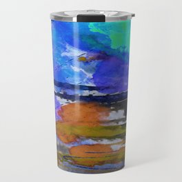 Art Abstraction 1E by Kathy Morton Stanion Travel Mug