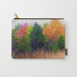 Colorful painted Trees Carry-All Pouch