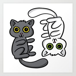 Two Cats, One Print Art Print