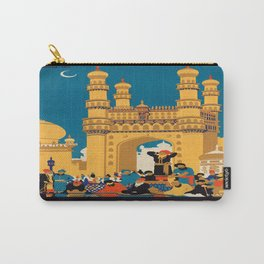 Vintage poster - India Carry-All Pouch