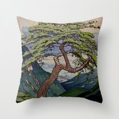 The Downwards Climbing Throw Pillow