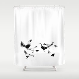 Island Life Series: Alarm Clock Shower Curtain