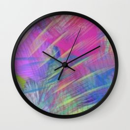 Colorful Curb Appeal Abstract Wall Clock