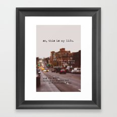 perks of being a wallflower - happy + sad Framed Art Print