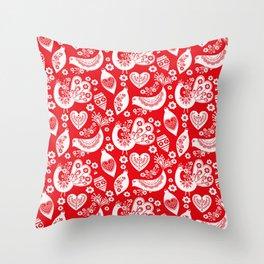 Scandinavian Christmas Pattern 04 Throw Pillow