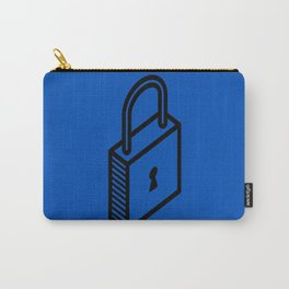 padlock love blue key Carry-All Pouch