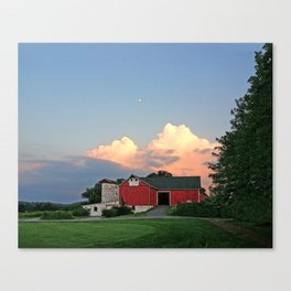 Red Barn With Thunderheads Canvas Print