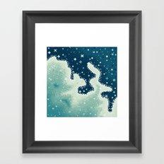 Snowdrift Nebula Framed Art Print