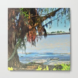 The Mooring Tree Metal Print