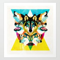 wolves Art Prints featuring wolves by Alvaro Tapia Hidalgo