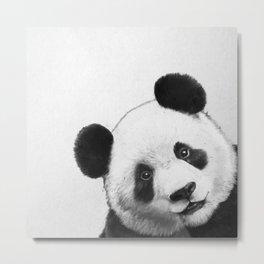 peekaboo panda Metal Print