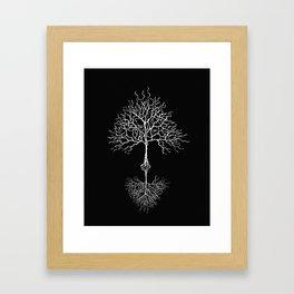 Tree of life meaning black Framed Art Print