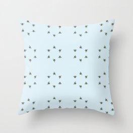 Bee Here Throw Pillow