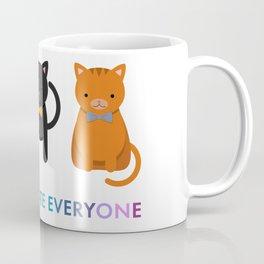 Cats Tolerate Everyone - white Coffee Mug