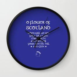 Scotland Rugby Union national anthem - Flower of Scotland Wall Clock