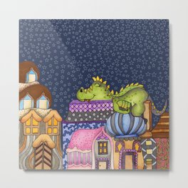 sleeping dino Metal Print