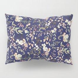 Dark Intricate Floral Pattern Pillow Sham