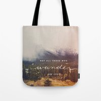 wander Tote Bags featuring wander by ashes