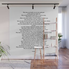 Quotation from Voltaire - life Wall Mural