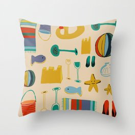 Beach gear Throw Pillow