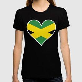 Jamaican Flag Heart T-shirt