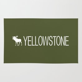 Yellowstone National Park: Moose (Green) Rug