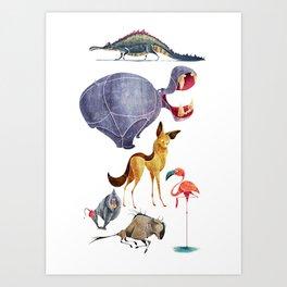 African animals 3 Art Print