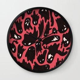 Pink Ghosties Wall Clock