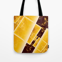 Flying Squares Abstract Geometric Fractal Art Tote Bag