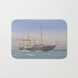 Vintage British Royal Yacht Illustration (1870) Bath Mat