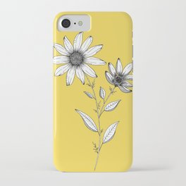 Wildflower line drawing | Botanical Art iPhone Case