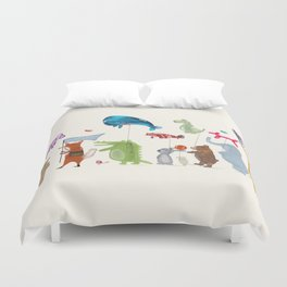 balloon parade Duvet Cover