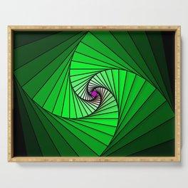 Spirale en vert, 2140b Serving Tray