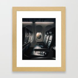 Airplane Seats Framed Art Print
